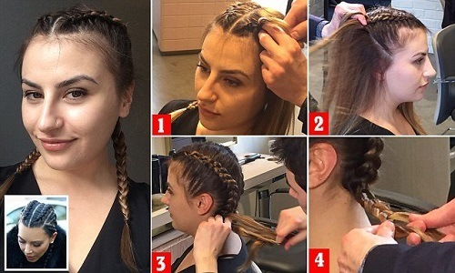 dani box braids puff and BP